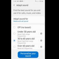 Настройка звука под индивидуальные особенности и слуха в наушниках Samsung